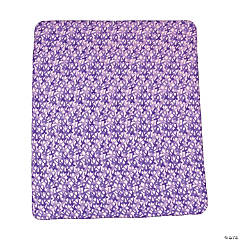 Fleece Purple Awareness Ribbon Throw