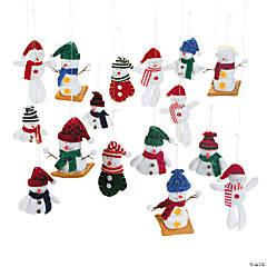 Fleece Snowman Ornament Assortment