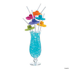 Flexible Plastic And Tissue Paper Sombrero Straws