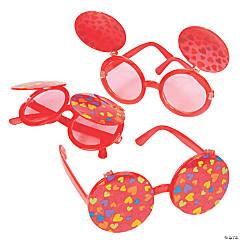 Flip-Up Valentine Hearts Sunglasses
