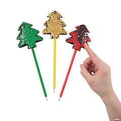 Flipping Sequin Christmas Tree Pens