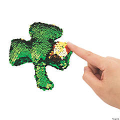 Flipping Sequin Plush Shamrocks