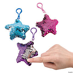 Flipping Sequin Star Keychains PDQ