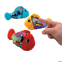 Flipping Sequin Stuffed Fishes