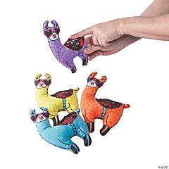 Flipping Sequin Valentine Stuffed Llamas