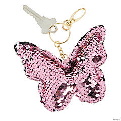 Flipping Sequins Butterfly Keychain
