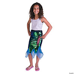 Flipping Sequins Mermaid Skirt - Medium
