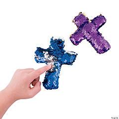 Flipping Sequins Plush Crosses