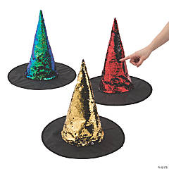 Flipping Sequins Witch Hats