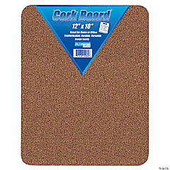 "Flipside Cork Bulletin Board, 12"" x 18"", Pack of 6"