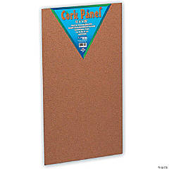"Flipside Cork Panel, 12.5"" x 26"", Pack of 6"