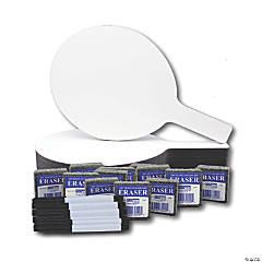 Flipside Oval Dry Erase Paddle Set, 12 Sets