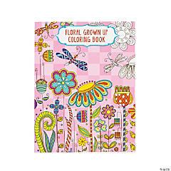 Floral Design 4 Adult Coloring Book