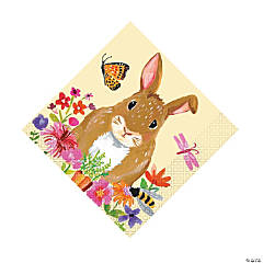 Floral Easter Bunny Luncheon Napkins