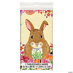 Floral Easter Bunny Tablecloth