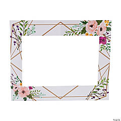 Floral Geometric Photo Booth Frame