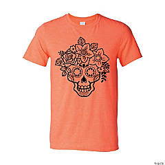Floral Sugar Skull Adult's T-Shirt - 2XL