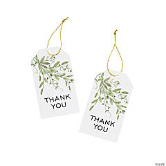 Floral Thank You Favor Tags