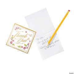 Floral Thank You Notepads