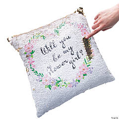 Flower Girl Flipping Sequin Pillow
