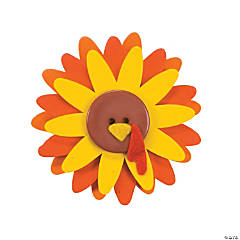 Flower Turkey Pins Craft Kit