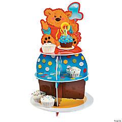 Foam 1st Birthday Bear Cupcake Holder