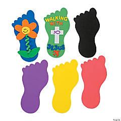 Foam 24 Jumbo Foot Shapes