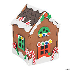 Foam 3D Gingerbread House Christmas Craft Kit