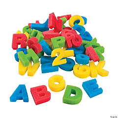Foam Alphabet & Number Sponges