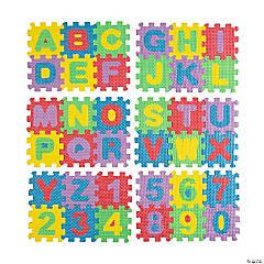 Foam Alphabet & Number Tiles