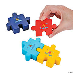 Foam Autism Awareness Puzzle Stress Toys