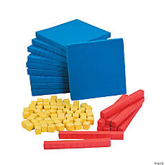 Foam Base Ten Counting Blocks