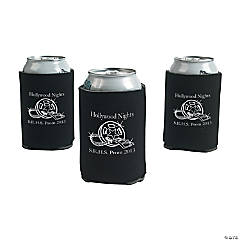 Foam Black Personalized Movie Night Can Covers