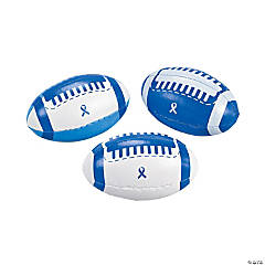 Foam Blue Awareness Ribbon Footballs