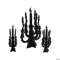 Foam Candelabra Centerpieces with Glow-in-the-Dark Flames