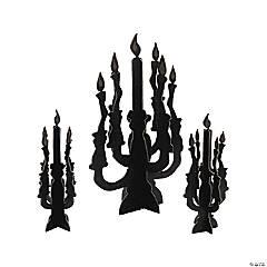 Foam Candelabra Centerpieces with Glow-in-the-Dark Flames