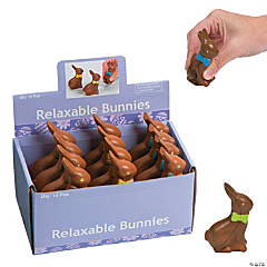 Foam Chocolate Bunny Stress Toys