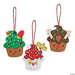 Foam Christmas Cupcake Character Ornament Craft Kit