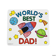 Foam Color Your Own Father's Day Mouse Pads