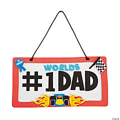 Foam Dad License Plate Sign Craft Kit