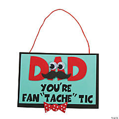 "Foam ""Dad You're Fan 'Tache' Tic"" Craft Kit"