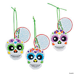 Foam Day of the Dead Ornaments with Card Craft Kit