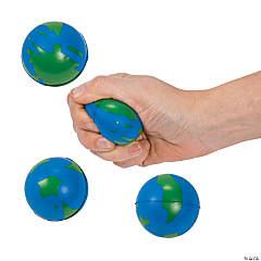 Foam Earth Stress Balls