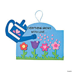"Foam ""Everything Grows with Love…"" Sign Craft Kit"