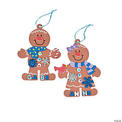 Foam Gingerbread Christmas Ornament Craft Kit