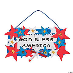 Foam God Bless America Sign Craft Kit