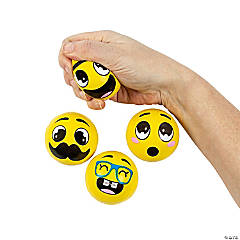 Foam Goofy Smile Face Stress Balls