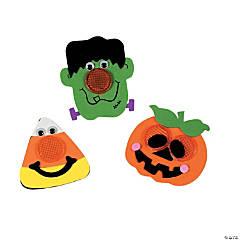 foam halloween reflector pin craft kit