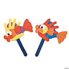 Foam Handprint Fish Puppet Craft Kit