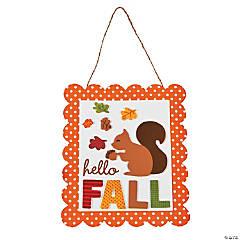 Foam Hello Fall Sign Craft Kit